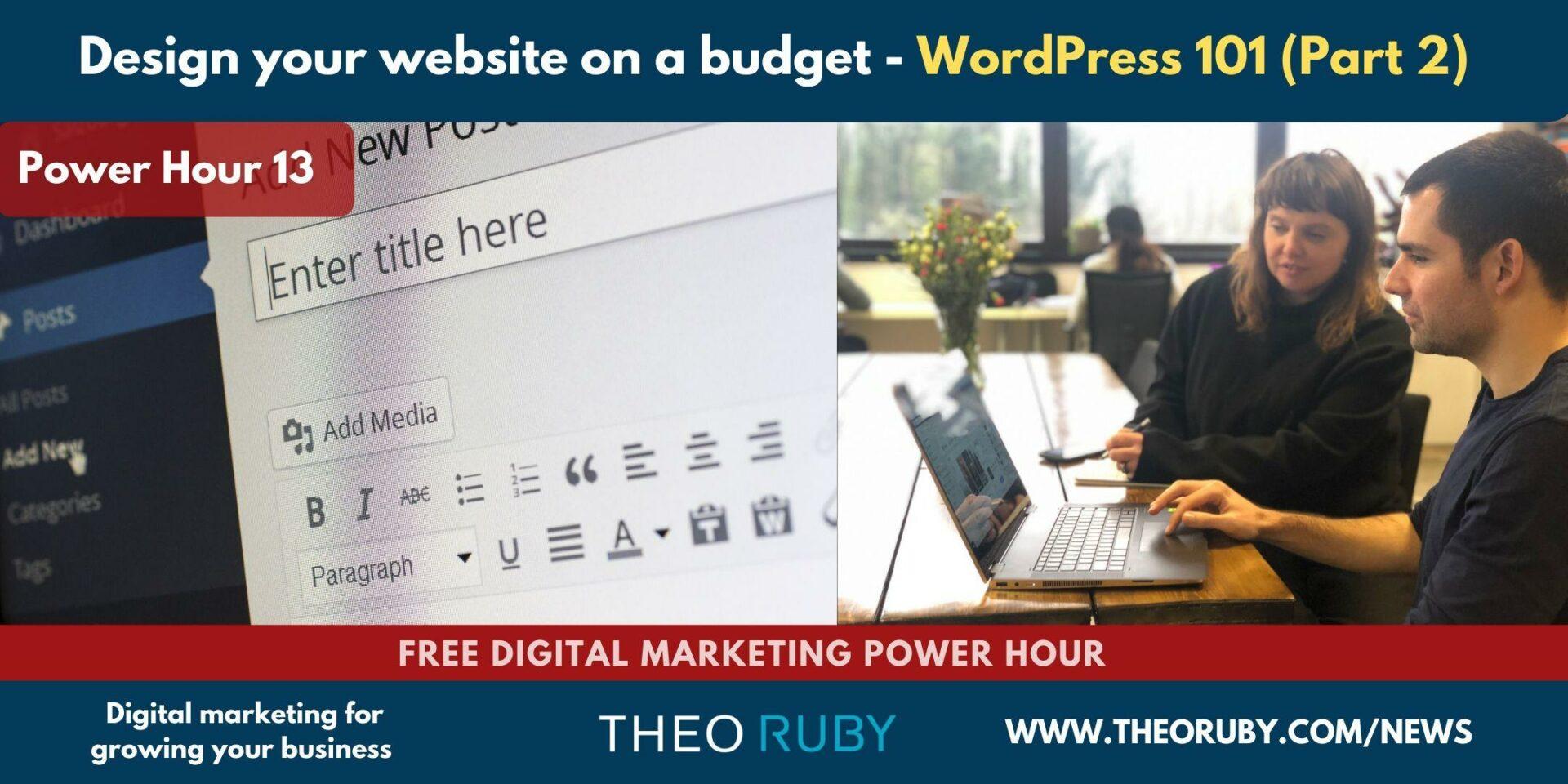 Understanding WordPress & Optimising Your Website 2